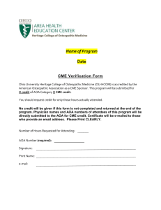 CME Credit Verification