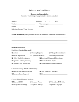 Accommodation Request Form Date
