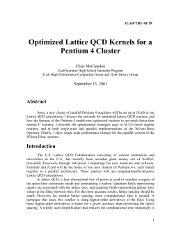 Optimized Lattice QCD Kernels for a Pentium 4 Cluster