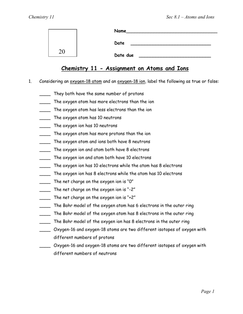 Worksheets Isotopes Worksheet 100 isotopes worksheet pdf search tes resources atoms ions answers biology i cp