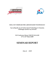Roll out seminar for labour based technology: Up-scaling the