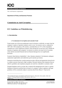 ICC Guidelines on Whistleblowing