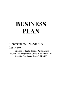 Business Plan - Net Media Lab