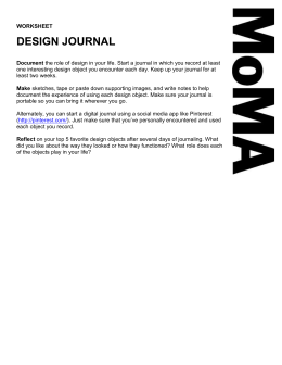 """Design Journal"" Worksheet ()"