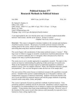 format of a political science research paper