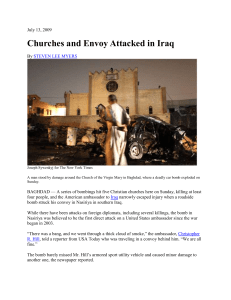 Churches and Envoy Attacked in Iraq