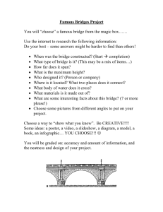 Famous Bridges Project