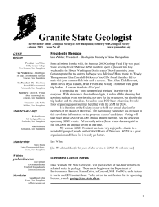Return-Path: Geological Society of New Hampshire