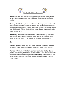 Weekly Word Study Homework 2G