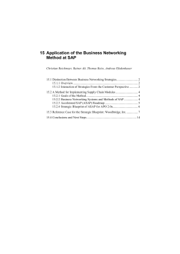 15 Application of the Business Networking Method at SAP