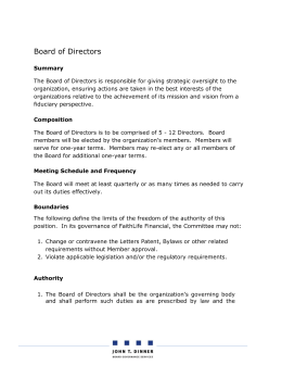 Board of Directors Mandate