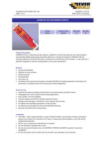 MasterSeal® SL 1 - Bonded Materials