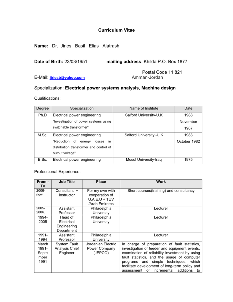Electric Load Forecasting Electrical Engineering Plan Uaeu
