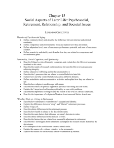 Chapter 15 Social Aspects of Later Life