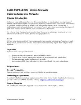 Social & Economic Networks - Electrical Engineering