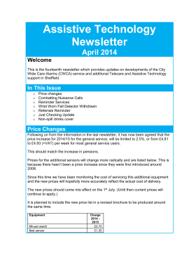 Telecare Newsletter Apr 2014