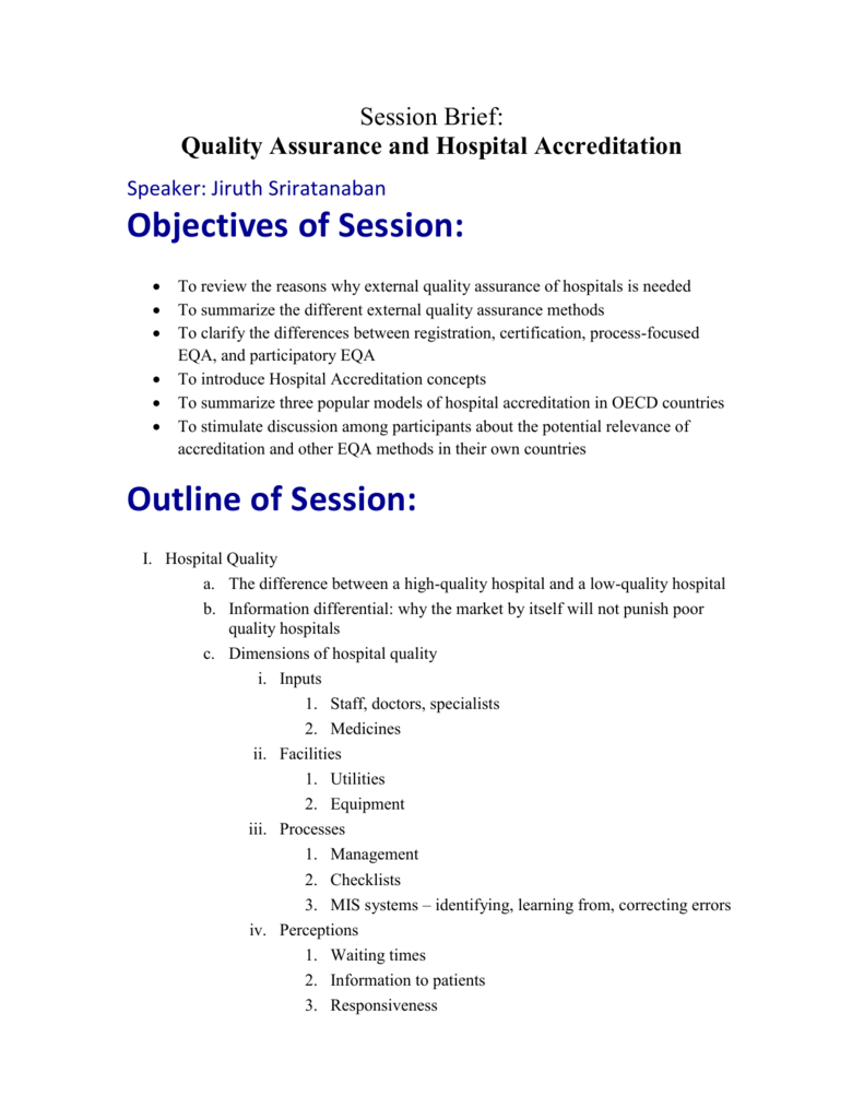Quality Assurance & Accreditation