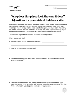 Geoscience Worksheet - VirtualFieldwork.org