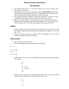 Maths Information Evening Handout