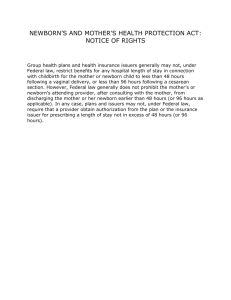 Newborns and Mothers Health Protection Act Annual Notice