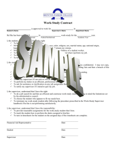 Sample Work-Study Contract - Brewton