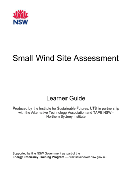 Managing wind data - Office of Environment and Heritage