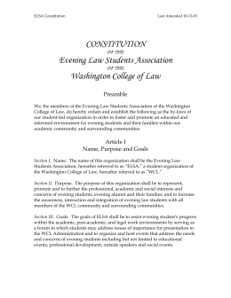 CONSTITUTION - American University Washington College of Law