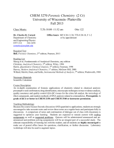 CHEM 2150 Quantitative Analysis - University of Wisconsin