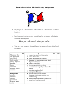 French Revolution Fiction Writing Assignment