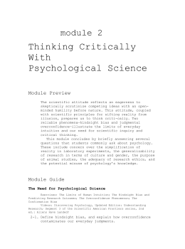 review critical thinking questions module