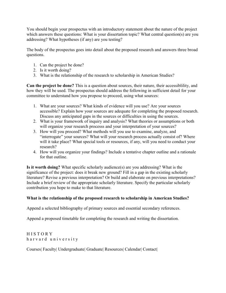 Dissertation prospectus example essay topic help