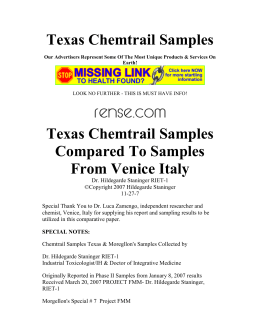 Texas Chemtrail Samples