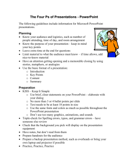 Presentation Guidelines for PowerPoint Presentations