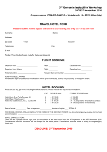 travel/hotel form
