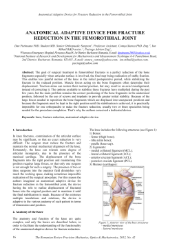 Keywords: knee, fracture reduction, anatomical adaptive