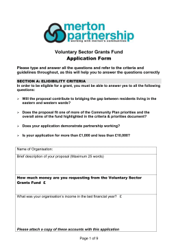 Application Form - Merton Partnership
