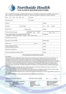 new patient registration form