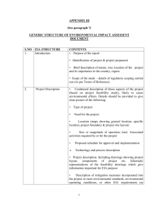 Generic Structure of Environmental Impact Assessment Document