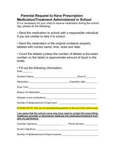 Parental Request to Have Prescription Medication/Treatment