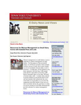 E-Dairy News and Views - Iowa State University Extension and
