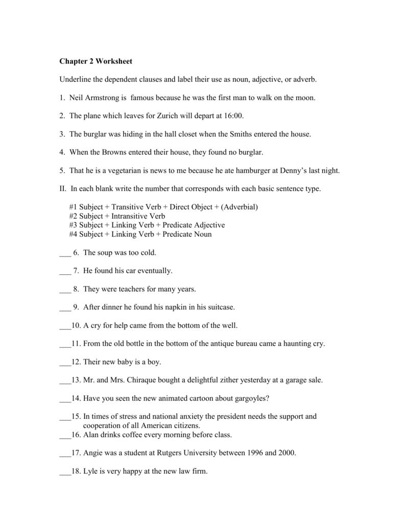 3: Chapter 2 Worksheet