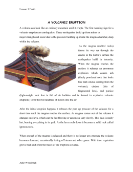 Volcanic Activity Student Information Sheet