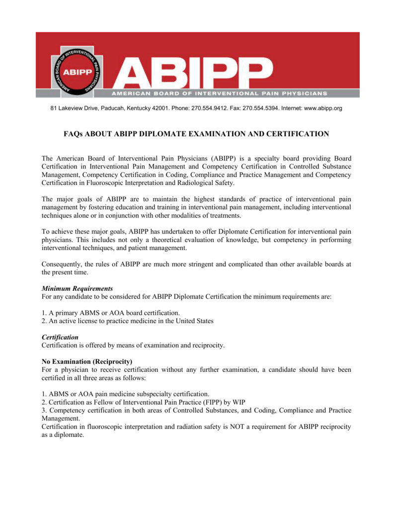 Faqs About Abipp Diplomate Examination And