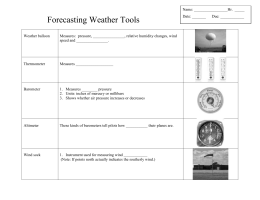 Forecasting Weather Tools