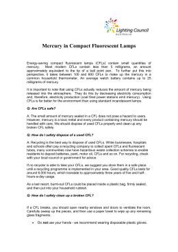 Mercury in CFLs - LC policy Jan 08