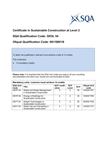 Certificate In Sustainable Construction L2 GK5L54 structure