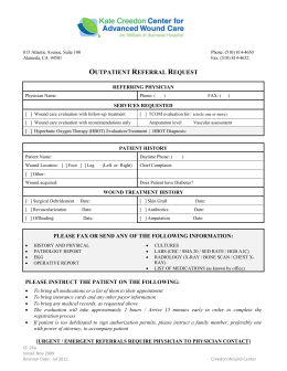 V A C Therapy Insurance Authorization Form
