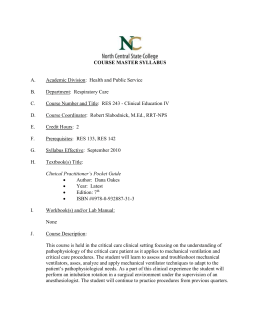 RES-243 Course Master Syllabi Page 1 COURSE MASTER