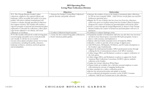Plant Collections Operating Plan 2015