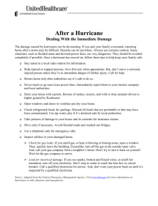 After a Hurricane: Dealing With the Immediate Damage